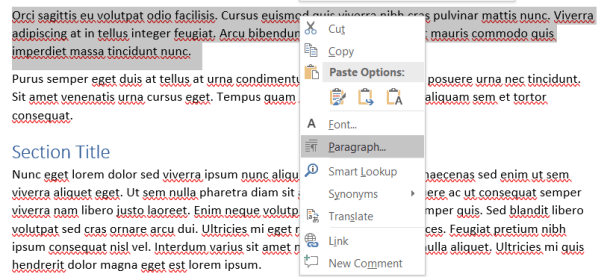 Triple Click to select paragraph