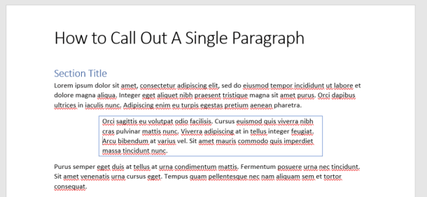 Add border to all sides of paragraph