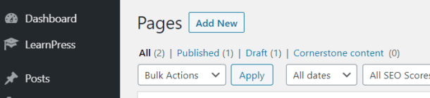 Add page in WordPress
