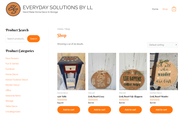 Everyday Solutions - Woocommerce Store