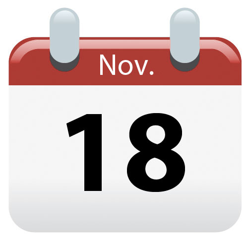New Closing Date - 18 November