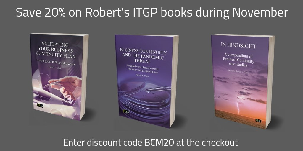 Save 20% on Robert's books in November by entering discount code BCM20 at the checkout