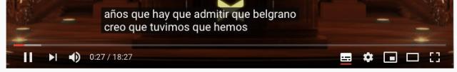 Muestra de un subtitulo