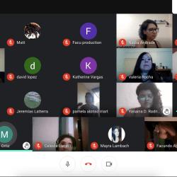 Captura Google Meet con 27 participantes