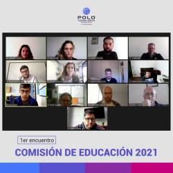 Comisión de educación 2021. Captura de la reunión en Google Meet