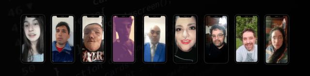 Captura de video grabados en vertical por los alumnos.