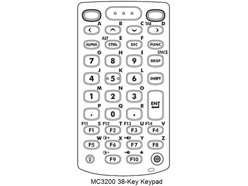 Terminal mobil Motorola Symbol MC3200 Premium, Straight