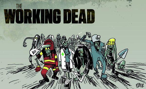 Les zombies au travail en attendant le burnout