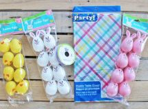 DIY Easter Egg Garland Decoration with Dollar Tree items ...