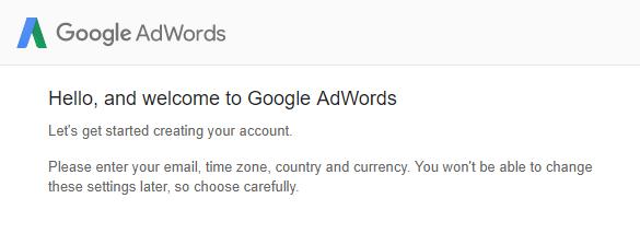 buka akaun di google adwords