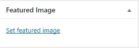 menetapkan pilihan gambar pada post baru wordpress
