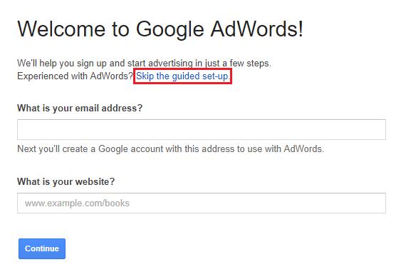abaikan ruangan pelajaran oleh google adwords