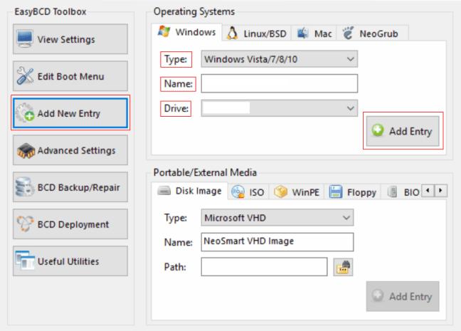 cara setting easyBCD untuk buat menu dual boot