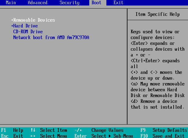 ubah setting bios untuk boot dari usb