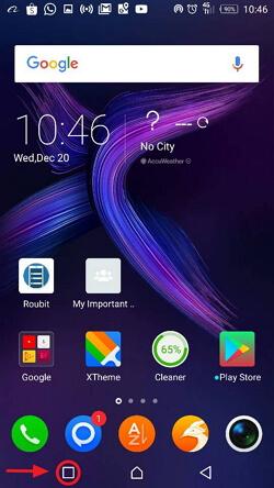 menu butang aplikasi beroperasi