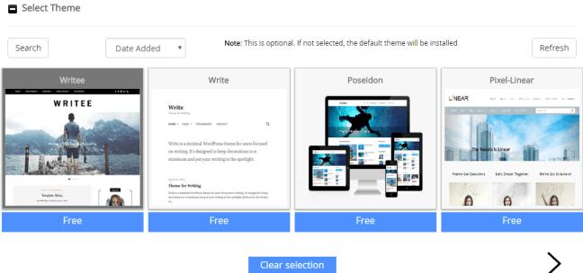 install wordpress pilih tema