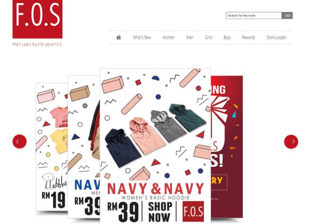fos laman web online shopping malaysia