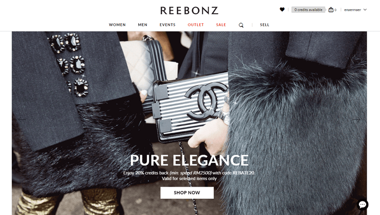 reebonz laman web online shopping popular di malaysia