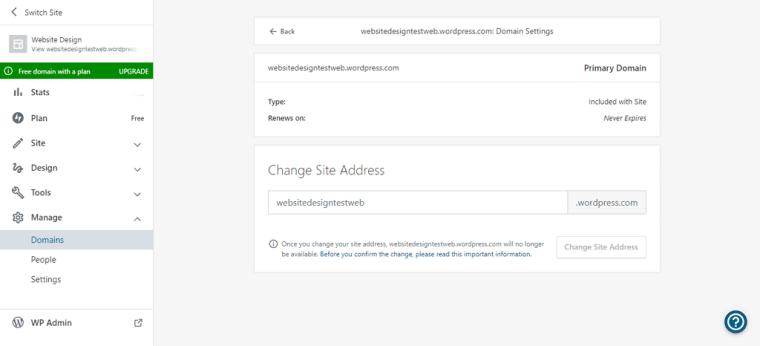 change site address