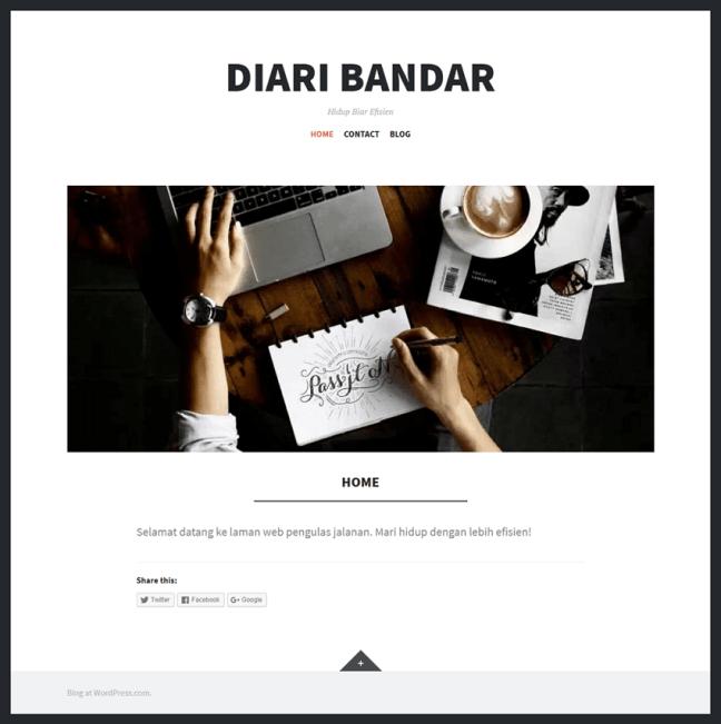 contoh blog wordpress percuma siap