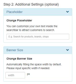 lazada search bar additional setting
