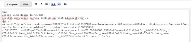 blogspot contoh paparan html