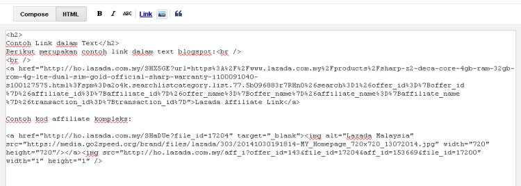 blogspot masukkan kod affiliate kompleks