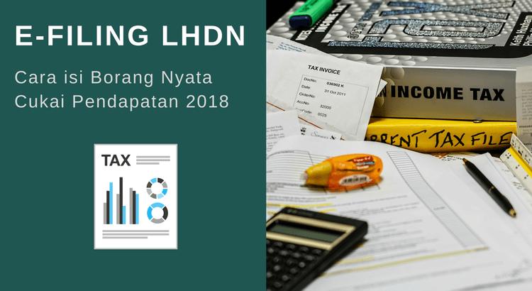 e-Filing LHDN: Panduan Mengisi Borang BE Secara Online 2018