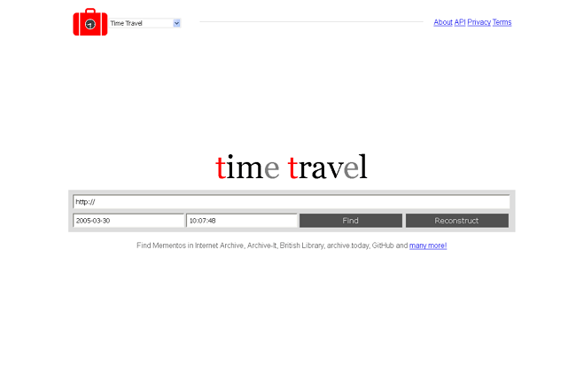 Time Travel web