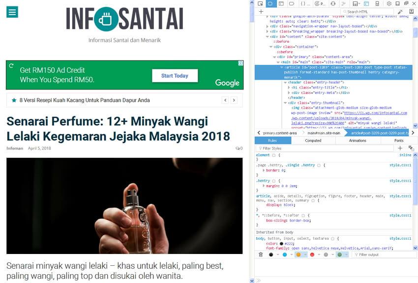 fungsi inspect pada browser