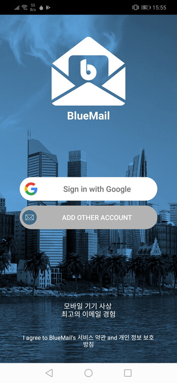 bluemail add another account