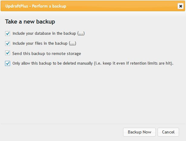 paparan perform backup