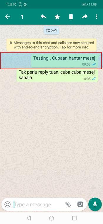 contoh mesej whatsapp tersalah hantar