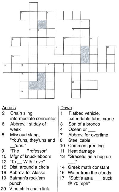 Rigging Crossword Puzzle