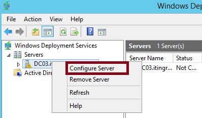 Configure Windows Deployment Services 2012
