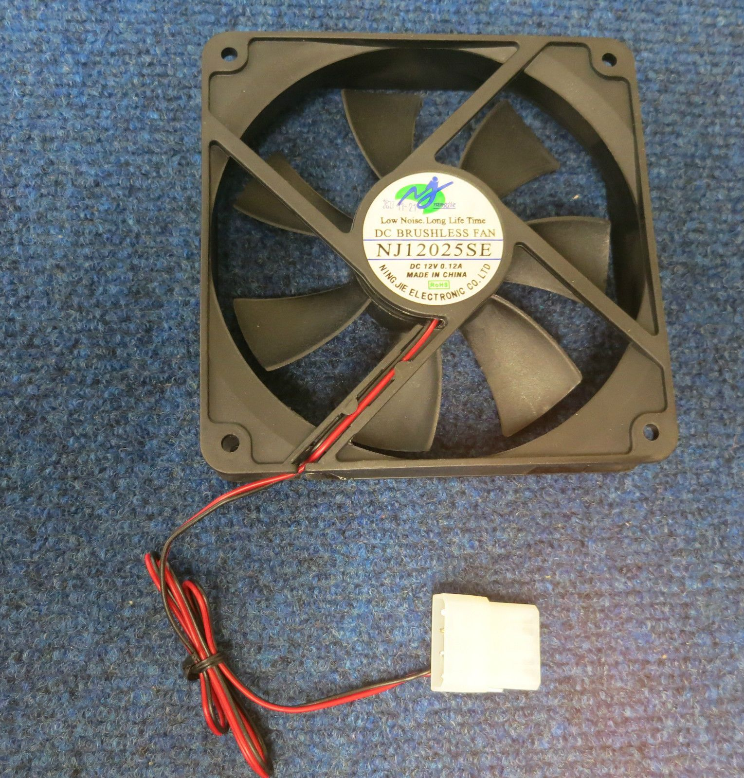 hight resolution of dc 12v 0 12a 2 wire 2 pin 110mm 120x120x25mm server cooling fan nj12025se 38067 p jpg