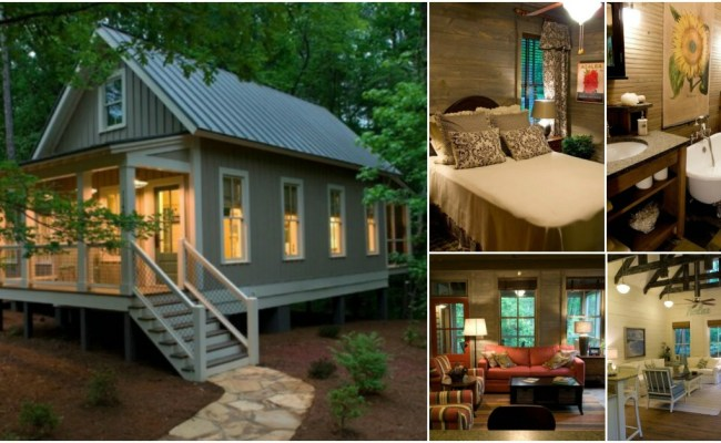 Camp Callaway Cottage Is 1091 Sq Ft Pure Cozyness Tiny