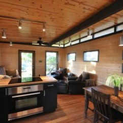 Extra Large Kitchen Sink Mobile Trailers This Tiny House Keeps Things Separated And Open In Just ...