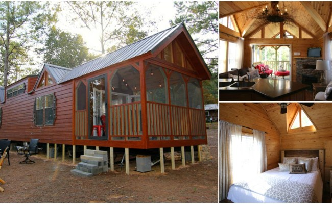 This Rustic Cabin In Alabama Takes Tiny Living To A New