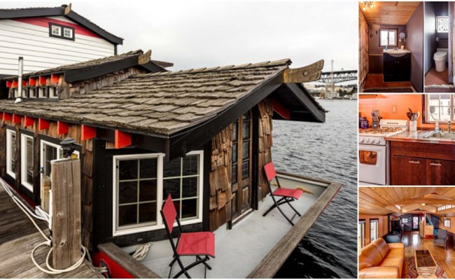 Asian Inspired Houseboat For Sale At Seattle Harbor Tiny