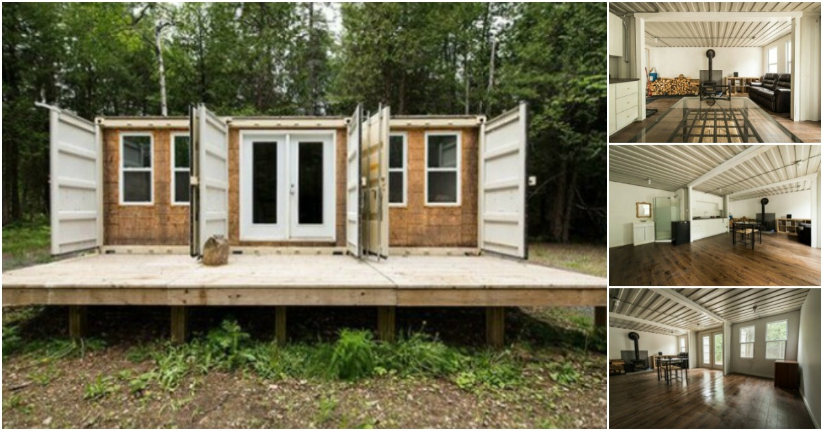 Canadian Man Recycles Three Shipping Containers into Beautiful Home