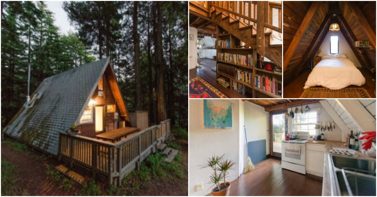 Mythical AFrame Tiny House Waits for You in the California Woods  Tiny Houses