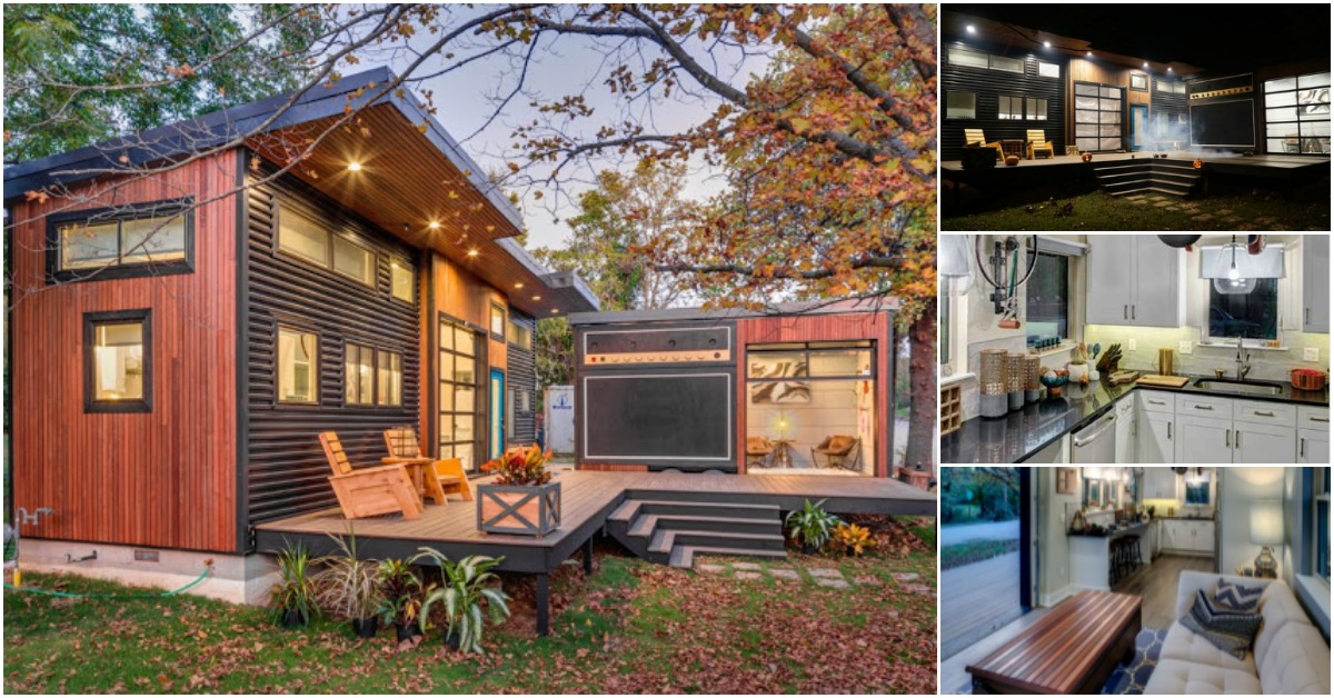 The Amplified Tiny House is a 400 Square Foot Cozy Paradise