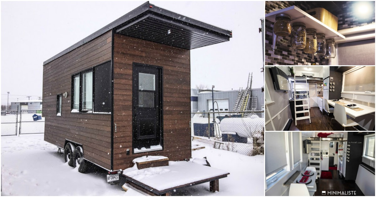 The Sequoia is a 220 SF Modern Tiny House by Quebec Company, Minimaliste