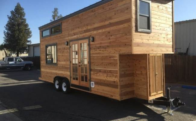 California Tiny House Builder Creates Wooden Beauty On