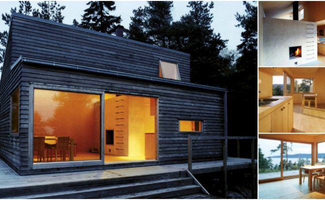 This 377sf Tiny House Is Hidden In The Woods Of Norway