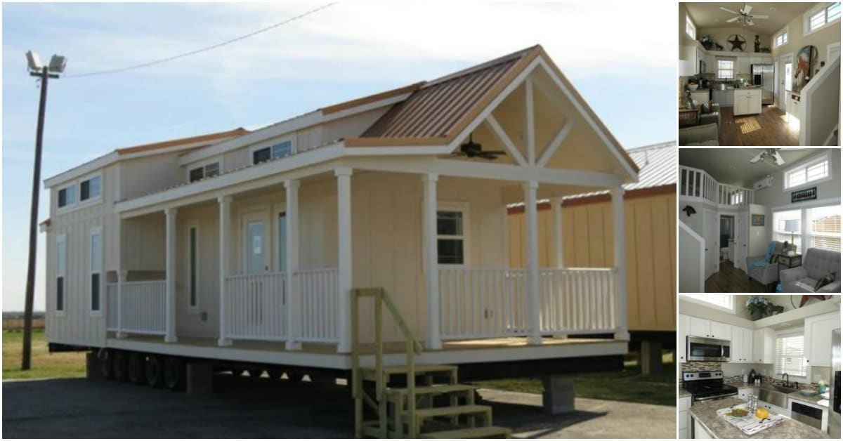 399 Square Foot Tiny House Complete with a White Picket