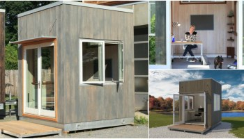 tiny backyard home office garden the 85x85 newport is tiny reimagined cubicle archipod backyard space brimming with possibilities