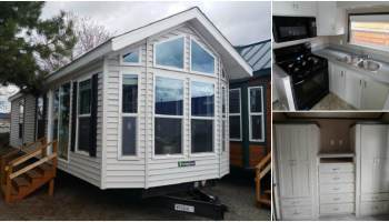 Luxurious Tiny House Built For A King at Park Model Homes
