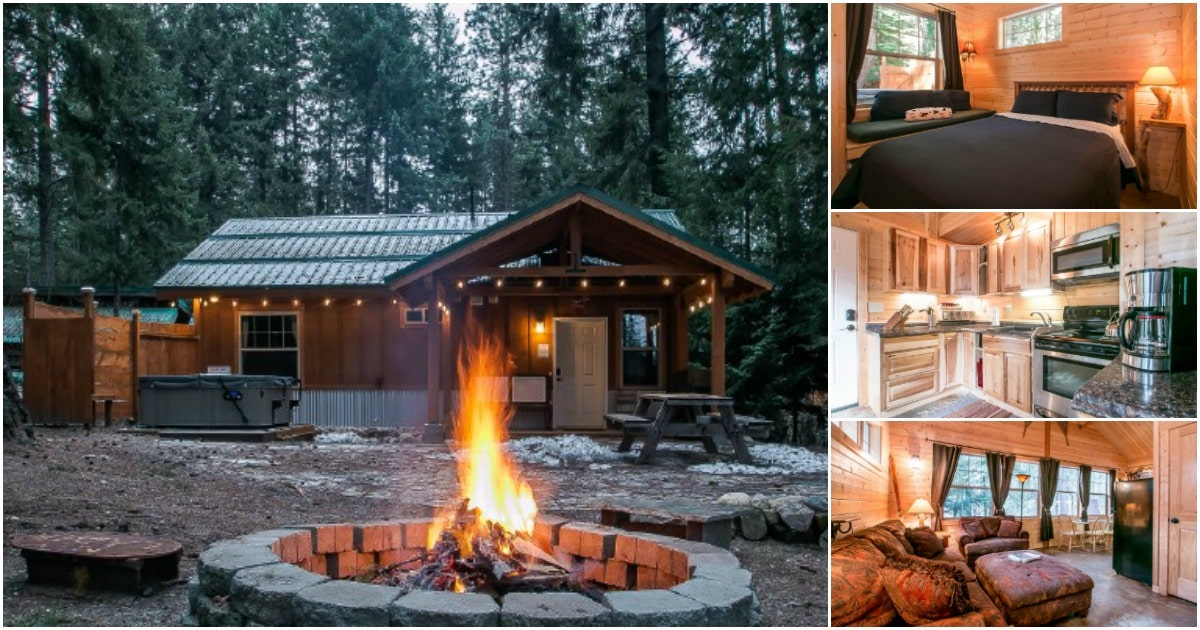 The Painted Pony Cabin is a Tiny Rustic Getaway